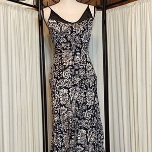Women's Vintage 90s floor length Fitted dress Sz S